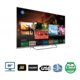 "Televisor LED HD 3D Smart con Wi-Fii de 50"" Android Google  Play"