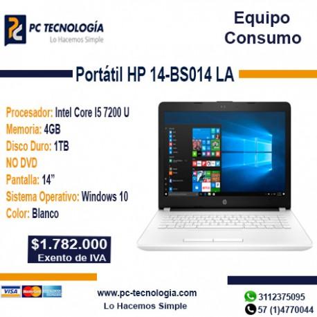 Portátil HP 14-BS014 LA